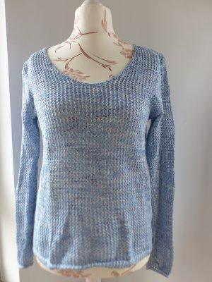 blauer grobmaschiger Pullover von Cecil - Größe M