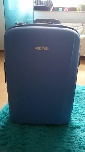blauer Hartschalenkoffer