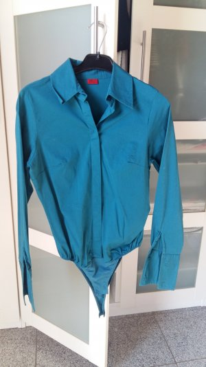 Blauer Hemd-Body von Vivien Caron