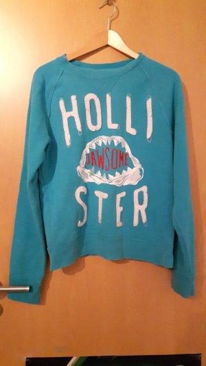 Blauer Hollister Pullover mit Aufdruck