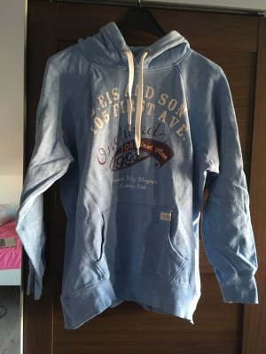 H&M Hooded Sweater neon blue-white