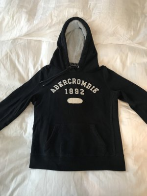 Abercrombie & Fitch Jersey con capucha blanco-azul oscuro