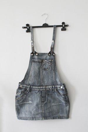 Blauer Jeans-Latzrock