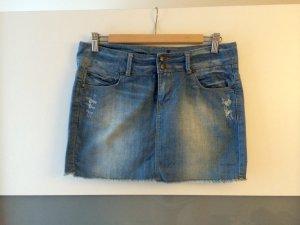 Blauer Jeans-Mini-Rock