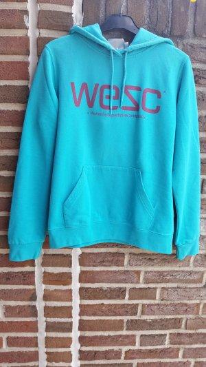 Wesc Jersey con capucha azul claro-rojo ladrillo