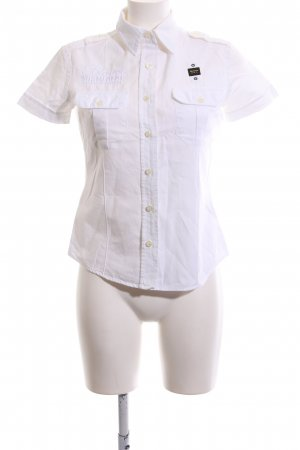 Blauer Short Sleeve Shirt white business style