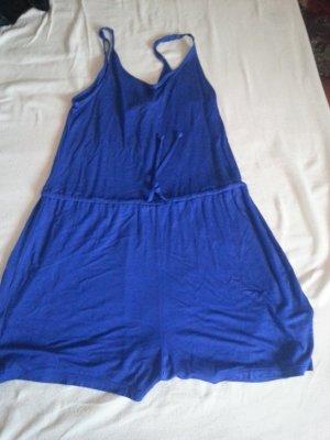 Blauer kurzer Jumpsuit von H&M Gr. XS - S