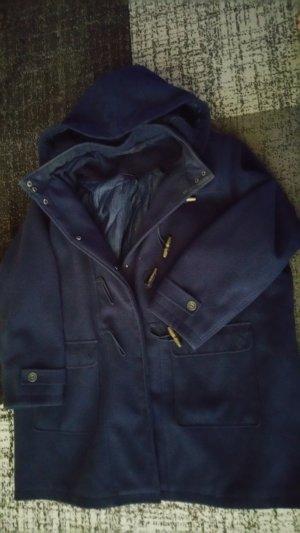 Ulla Popken Abrigo corto azul oscuro tejido mezclado