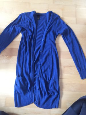 Blauer langer cardigan