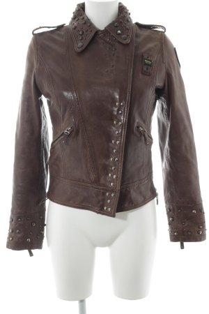 Blauer Leather Jacket bronze-colored-brown biker look