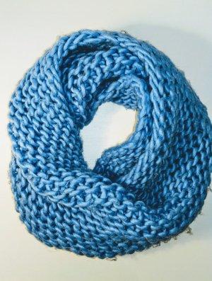 blauer Loop Strick Schal