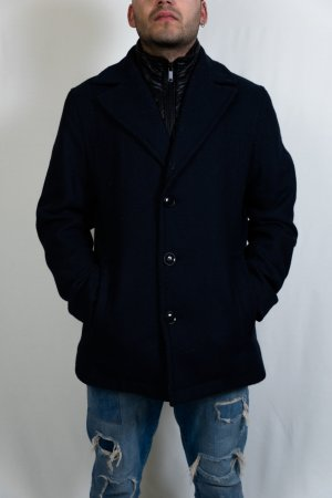 McNeal Heavy Pea Coat black-dark blue