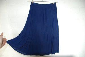 Jupe mi-longue bleu-bleu acier