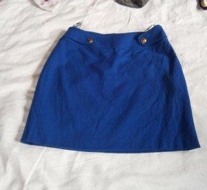 Blauer Minirock aus Wolle * Größe 36