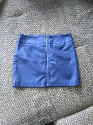 blauer Minirock Metalic - look