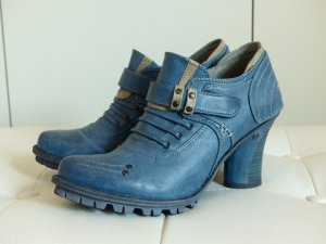 Mustang Shoes Boots steel blue-light grey