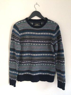 Blauer Norweger Pullover von H&M