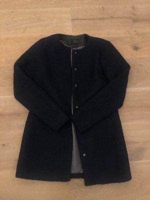 Only Abrigo de lana azul oscuro