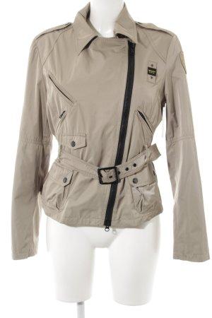 Blauer Outdoor Jacket sand brown weave pattern casual look