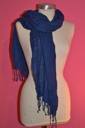 Blauer Pashmina Länge ca. 180 cm