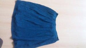 blauer plisseerock