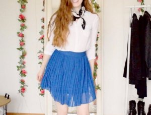 NA-KD Pleated Skirt multicolored