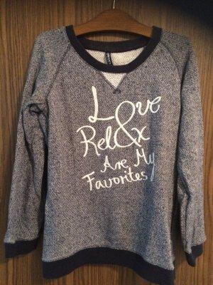 Takko Crewneck Sweater dark blue-white