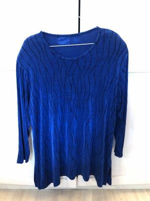 Kraagloze sweater donkerblauw