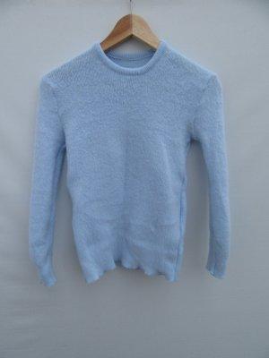 blauer Pullover kuschelig Vintage Retro Gr. XS S