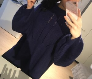 H&M Oversized Sweater dark blue-blue