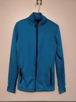 Blauer Pullover mit Reißverschluss
