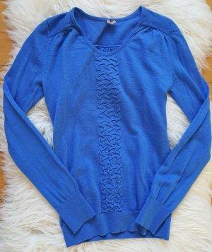 Blauer Pullover von Boss Orange in Gr. 34 XS Schurwolle Seide königsblau