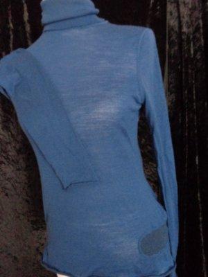 Zadig & Voltaire Pull-over à col roulé bleu laine