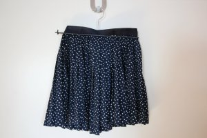 H&M Divided Pleated Skirt dark blue-blue synthetic fibre