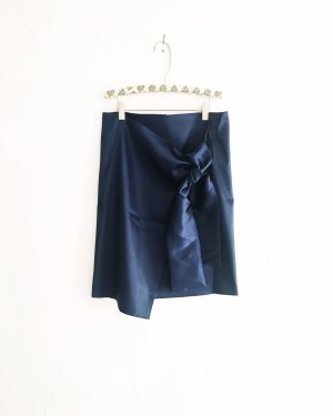 Vintage Wraparound Skirt dark blue-steel blue