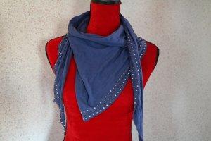Blauer Schal mit Metall-Details