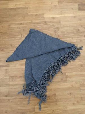 H&M Divided Bufanda de flecos azul aciano