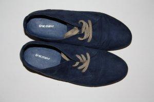 Blauer Schnürschuh Gr. 39