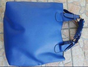Blauer Shopper mit Innentasche