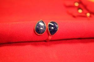 Silver Ring dark blue-primrose