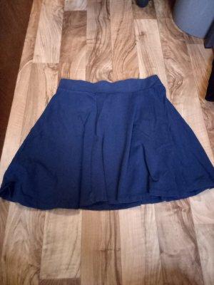 H&M Skater Skirt blue-dark blue