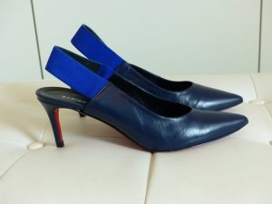 Andrea Puccini Tacones azul-azul neón Cuero