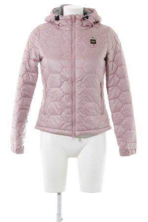 Blauer Veste matelassée rose style décontracté