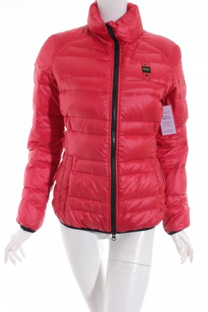 Blauer Steppjacke rot Casual-Look