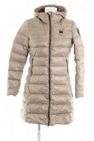 Blauer Quilted Coat cream quilting pattern casual look