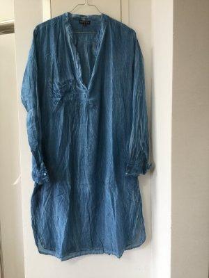 Caftán azul-azul acero Algodón