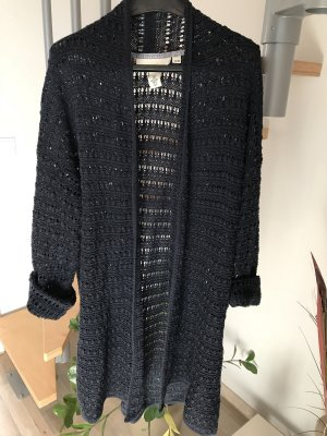 H&M L.O.G.G. Gehaakte cardigan donkerblauw