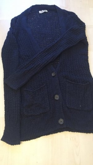 Blauer Strickcardigan Hollister