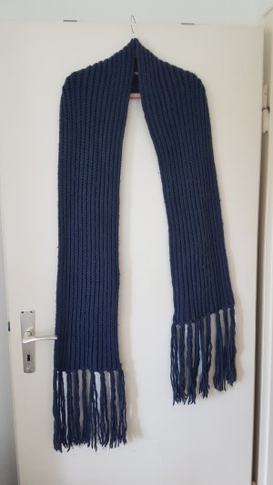 H&M Knitted Scarf blue-dark blue