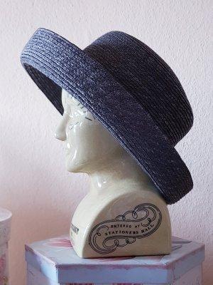 Seeberger Cappello di paglia grigio ardesia